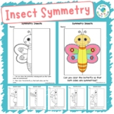 Insect Lines Of Symmetry Worksheets - Math Art Activity