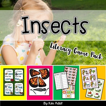 Insects Literacy Game Pack