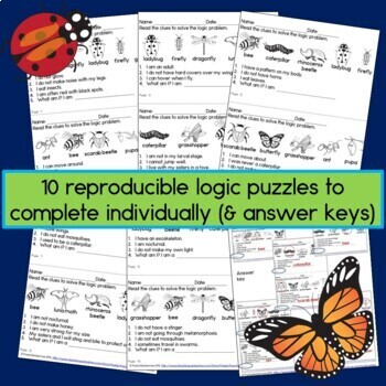 Insect Logic Puzzles
