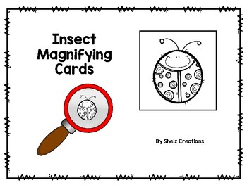 Insect Magnifying Glass Cards