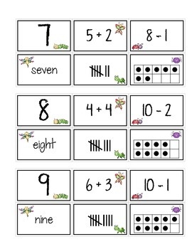 Insect Math Centers for K & 1st