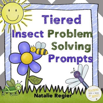 Insect Math: 25 Cut-And-Paste Tiered Problem Solving Prompts