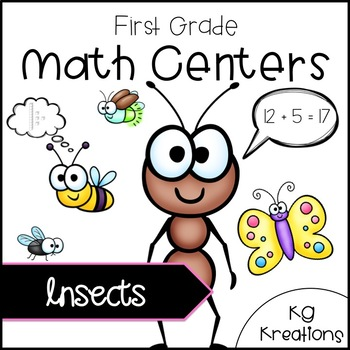 1st Grade Math Centers: Insects
