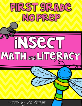 Insect Math and Literacy No Prep First Grade Pack