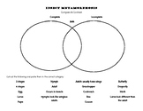Insect Metamorphosis Venn Diagram for Interactive Notebook