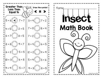 Insect Mini Math Book (No Prep)
