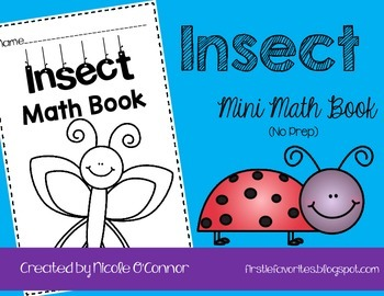 Insect Mini Math Book (No Prep)