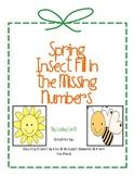 Insect Missing Number Card Set