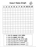 Insect Name Graphing Activity
