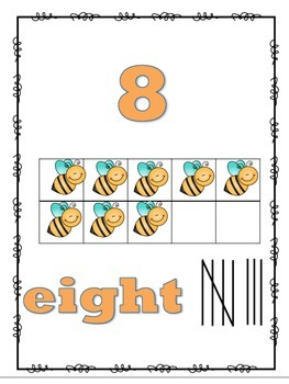 Insect Number Posters