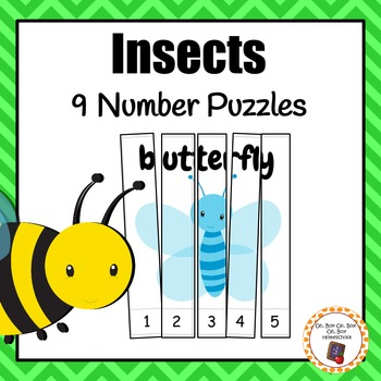 Insect Number Puzzles, Bug Number Puzzles