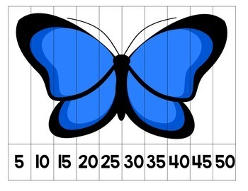 Skip Counting Number Puzzles - Insects