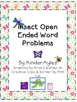 Insect Open Ended Word Problems