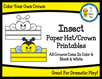 Insect Paper Hat/Crown Printables
