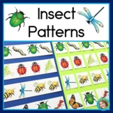 Insect Patterns Math Center with AB, ABC, AAB & ABB Patterns