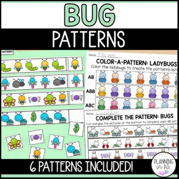 Insect Patterns Worksheet (color, cut, paste)