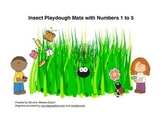 Insect Playdough Mats with Numbers 1 to 5