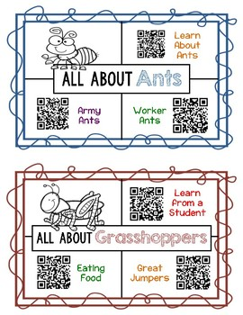 Insect QR Code Research Videos