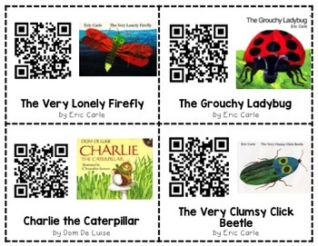 Insect QR Code Read Alouds