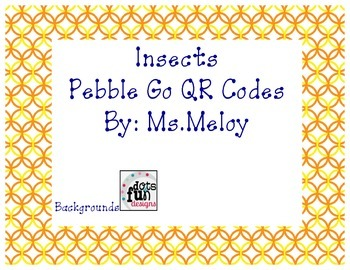 Insect QR Codes for Pebble Go