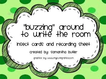 """Insect Reading the Room ... """"Buzzing"""" Around to Write the Room!"""