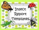 Insect Report Templates
