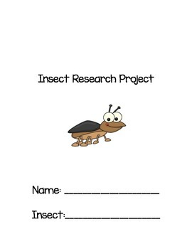 Insect Research Project Checklist