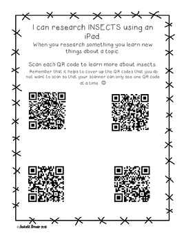 Insect Research: QR code fun