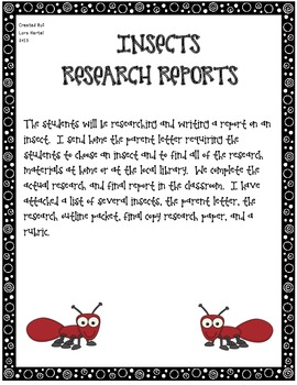 Insect Research Report Writing