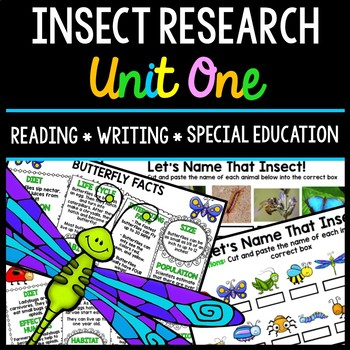 Insect Research - Special Education - Reading - Writing - Spring - Unit One