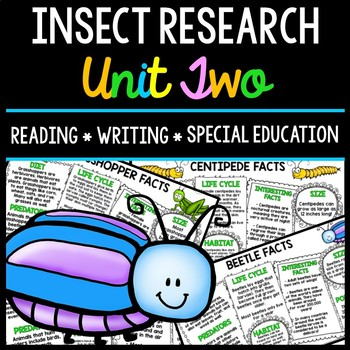 Insect Research - Special Education - Reading - Writing - Spring - Unit Two
