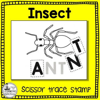 Insect Scissor, Trace and Stamp - An Animal Literacy Center