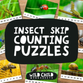 Insect Skip Counting Puzzles, Multiplication Activities, T