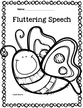 Speech Language Therapy Lesson: Buggy Speech Craftivities