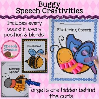 Speech Language Therapy Lesson: Buggy Speech Craftivities