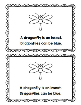 Insect Spring Emergent Readers