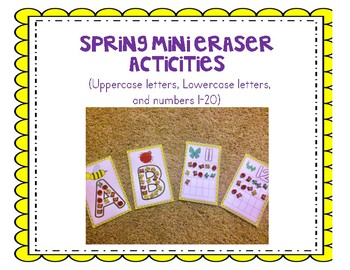 Insect Spring Mini erasers