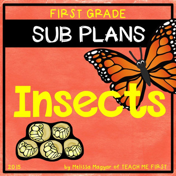 Insect Unit Sub Plans for up to 3 days