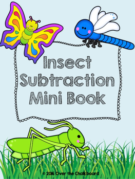 Insect Subtraction Mini Book
