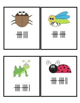 Insect Tally Mark Math Center