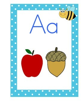 Insect Theme Alphabet Posters With Pictures