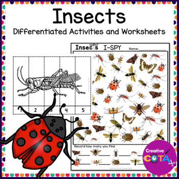 Insect Theme Differentiated Activities and Worksheets