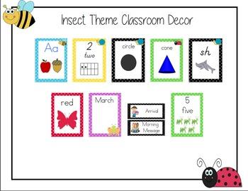 Insect Theme Classroom Bundle, Super Adorable!