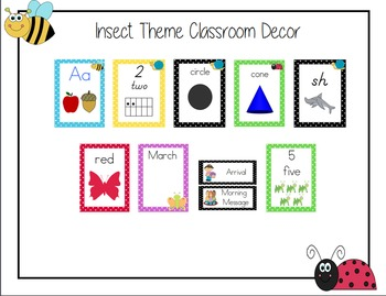 Insect Theme Classroom Bundle, Super Adorable!