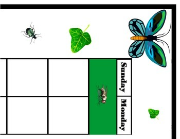 Insect Calendar! Insect Bulletin Board! Bug Theme! Insect Theme! Bug Calendar!