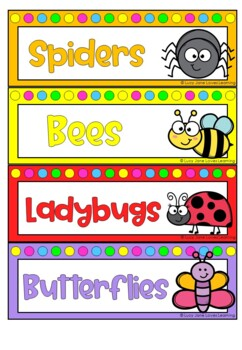 Insect Theme Group Signs