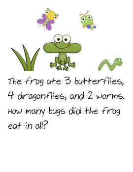 Insect Theme Math Journal Prompts