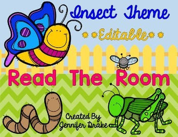 Insect Theme Read The Room EDITABLE