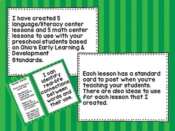 Insect math and literacy centers
