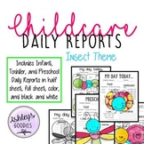 Insect Themed Childcare Daily Reports  (Daycare)